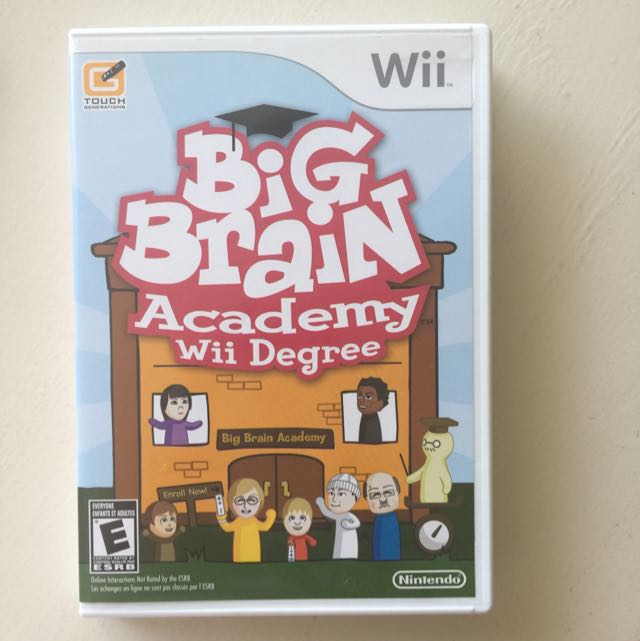 Wii Big Brain Academy For Smart Kids