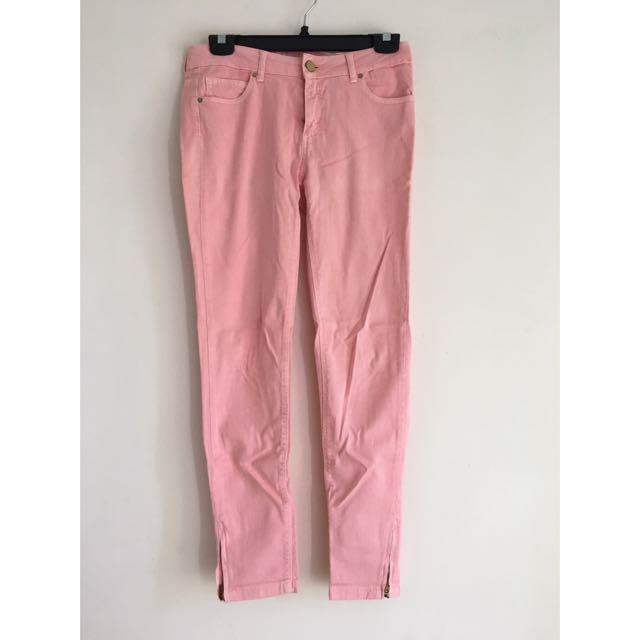 Zara 粉色色褲