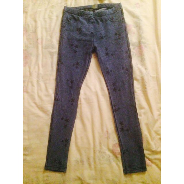 Zara Girl Blue Printed Leggings