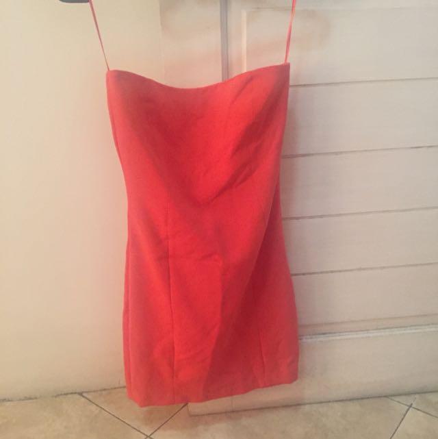 Zara Orange Tube Dress