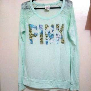 Victoria's Secret PINK Turquoise Pullover