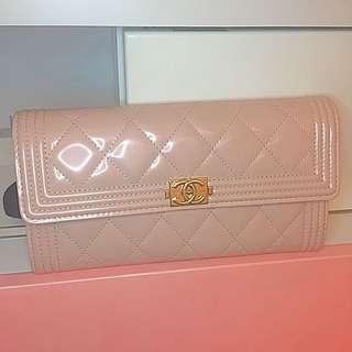 2016新款Chanel限量版粉色長夾