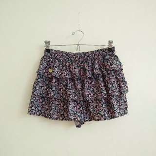 Candies' Floral layered skirt