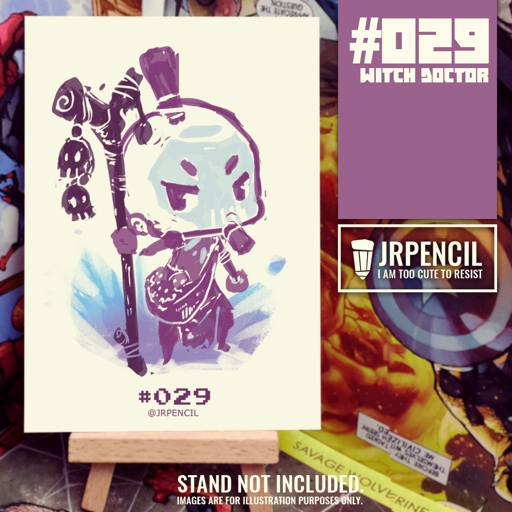 #029 Dota 2 Witch Doctor A6 Artcard by Jrpencil