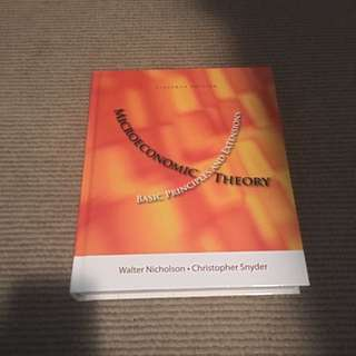 Microeconomic Theory- Walter Nicolson And Christopher Snyder