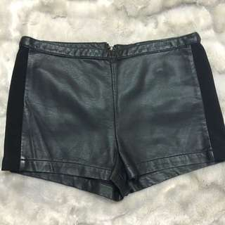 High waisted Pleather Shorts