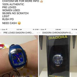 Diadora Chronograh watch