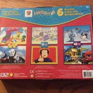 6 Puzzles - 132 Pieces