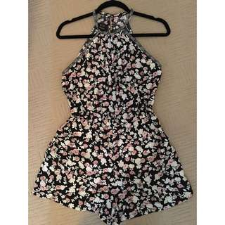 Floral Playsuit Size Small