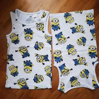 minion singlet kids boys girls