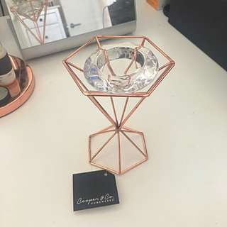 Copper & Crystal Tea Light Holder (Cooper & Co Homewares)