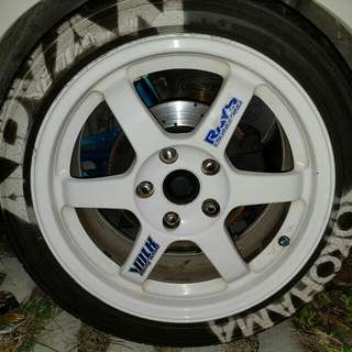 Original Te37 16 inch 5×114.3 come wif ad08r 205/45/16 Ccs caliper 6 port caliper Rotor 303 Sell as whole set Pm for Price