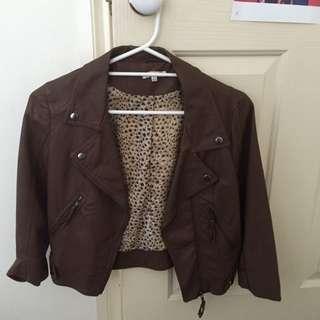 valley girl size 8 Fake leather jacket
