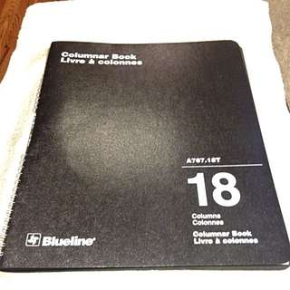Blueline Columnar Book