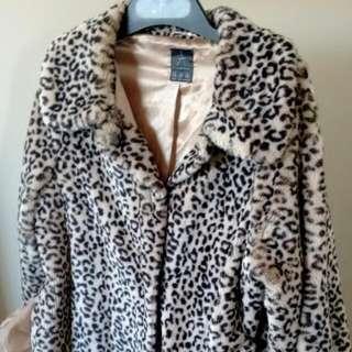 Oversize Animal Print Coat Size M/L