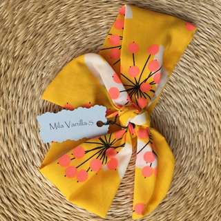 New Handmade Baby Girls Top Knot Tie Headband, Size XL Only
