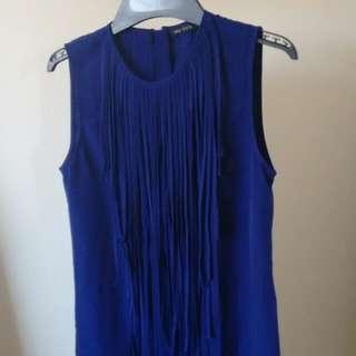 Blue Fringe Dress Size 6