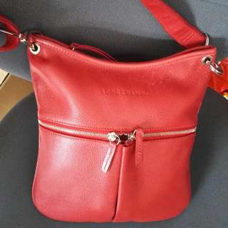 Longchamp Leather Body Bag - Made In France