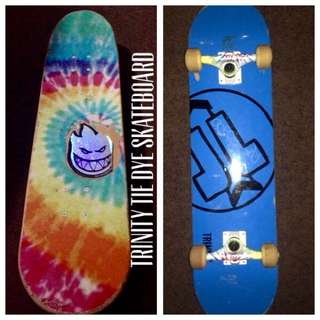 Tie-Dye TRINITY deck, Trucks & Wheels