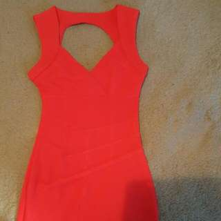 Red Body Con Dress