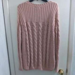 Beige Knitted Mesh Long sleeve