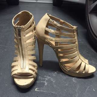 Marco Gianni Nude Strappy Heels
