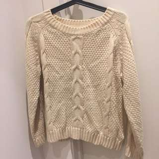 White Chunky Knit Jumper