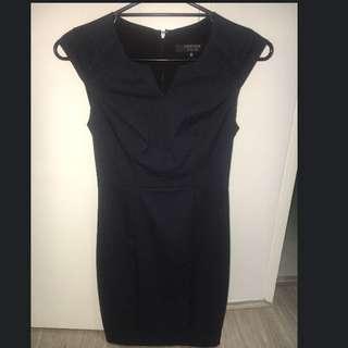 Portmans Navy & Black Work Dress