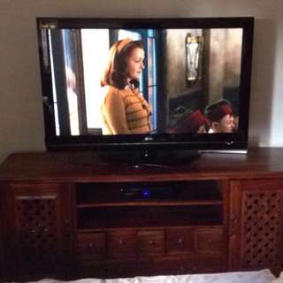 """50"""" LG TV WITH CABINET"""
