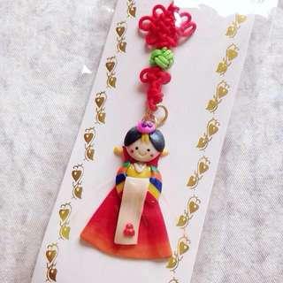 韓國新娘黏土娃娃吊飾