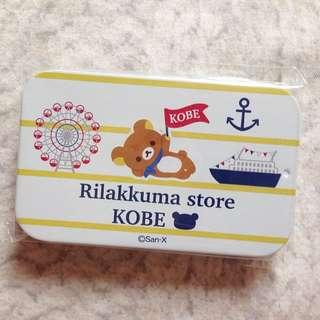 Rilakkuma拉拉熊神戶限定鐵盒糖果/收納盒