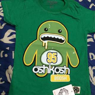 kaos osh kosh green colour