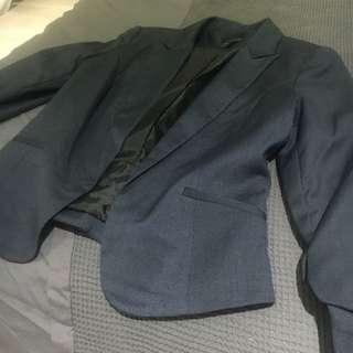 Portland Suit Jacket Navy & Black