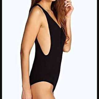 Boohoo Scoop Side Bodysuit