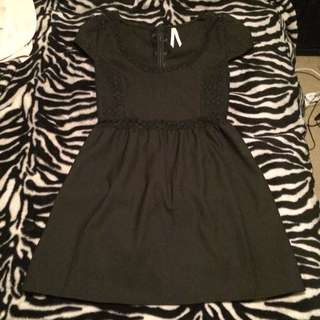 Ally Black Skater Dress Size 16