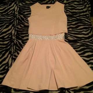 Nude/ Peach Skater Dress Size 18