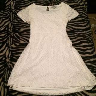 White Lace Dress Size 18