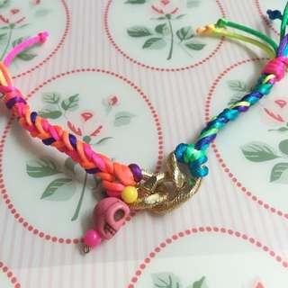 Pink Skull Bracelet / Gelang Pink Biru Neon