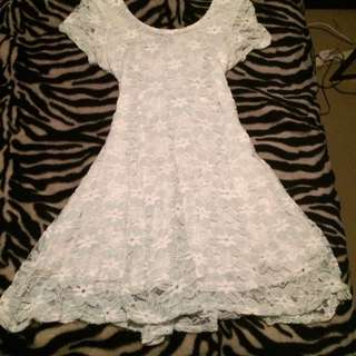 Baby Blue Lace Dress Size 14