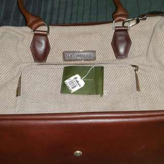 Longchamp Leather Canvass Bag