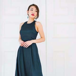 RENT: VGY Quinn Racerback Maxi Dress in Forest Green (Size S)