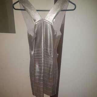 GUESS MARCIANO - Bandage Dress GOLD size small