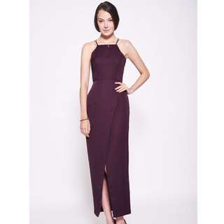 RENT: LB Davonna Foldover Maxi Dress in Purple (Size XS)