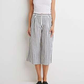 forever 21 contemporary stripe culottes UK 10 UK 12 size S