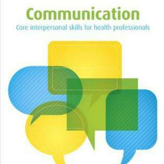 Communication core interpersonal skills for health professionals 2nd Edition. Excellent Condition