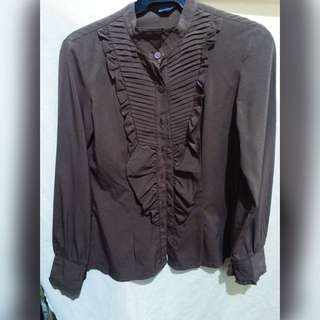 Choco Brown Office Top