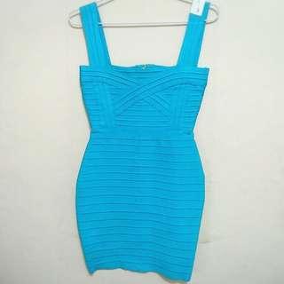 Herve Leger Dress Light Blue