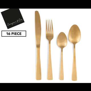 Cooper & Co. homewares 16-Piece Cutlery Set Gold