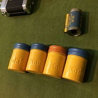 Kodak 柯達50年代古董底片罐/底片盒/鐵罐