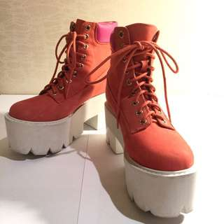 Jeffrey Campbell Nirvana Platform Coral 粉橘色厚底靴